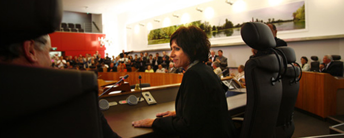 Nicole Bonnefoy au Conseil général