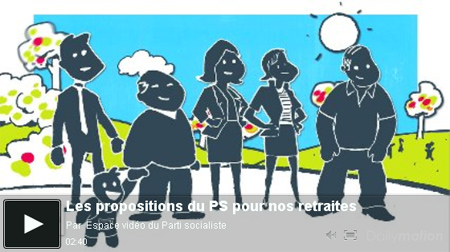 Vidéo sur les propositions du PS sur les retraites