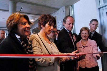 Les locaux agrandis ont été inaugurés hier. Photo : E. Binau