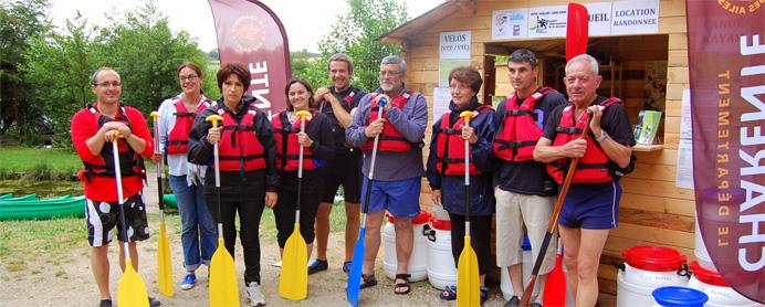 Inauguration de la base de canöe-kayak de Réjallant à Condac.