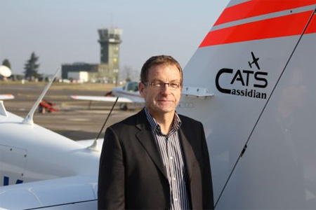 Laurent Blattner, le président de Cats, ne cache pas sa joie d'avoir remporté de nouveaux marchés pour son entreprise. Photo : Archives F. B.