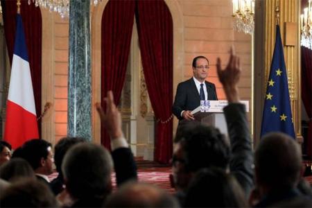 Conférence de presse de François Hollande au Palais de l'Elysées. Photo : Présidence de la République