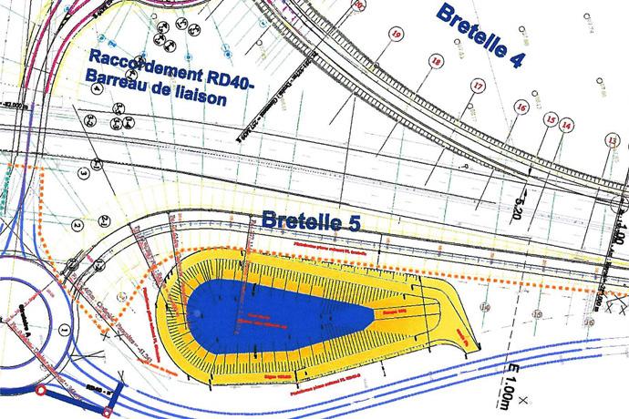 Plan de l'échangeur sud Mansle