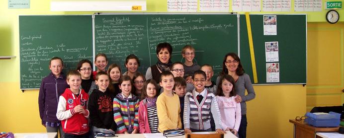 Rencontre avec les élèves de l'école de Valence.