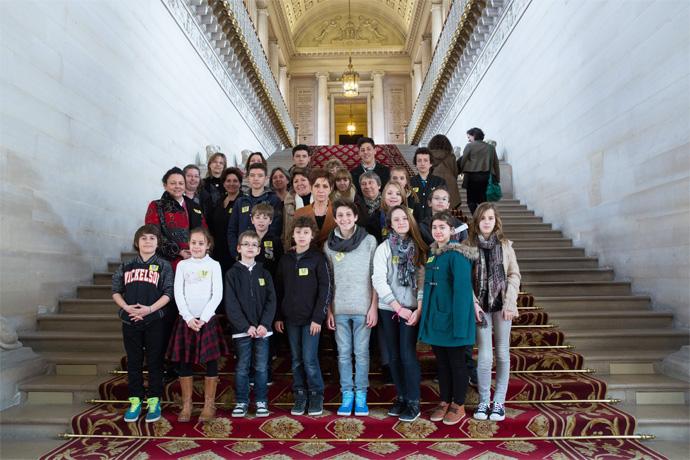 Visite du Sénat avec le conseil municipal des jeunes de Chazelles. Photo : Sénat