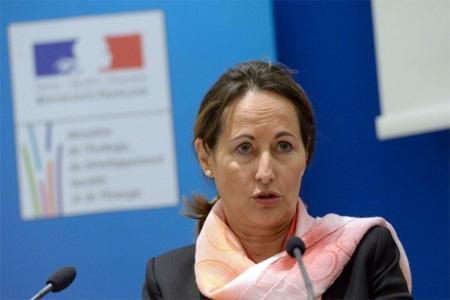 La ministre de l'Écologie, du Développement durable et de l'Énergie Ségolène Roya. Photo : AFP - P. Andrieu