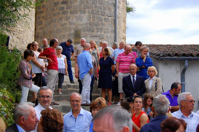 Inauguration du porche et du donjon à Montignac sur Charente. Photo : N. Bonnefoy