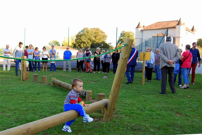 Inauguration de la nouvelle aire de jeux à La Rochette. Photo : N. Bonnefoy