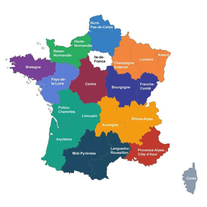 carte de france 2015