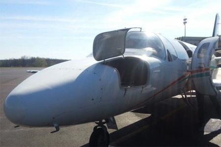Le Cessna Citation sera posé à demeure sur le tarmac de l'aéroport d'Angoulême-Cognac. Photo : B. R.
