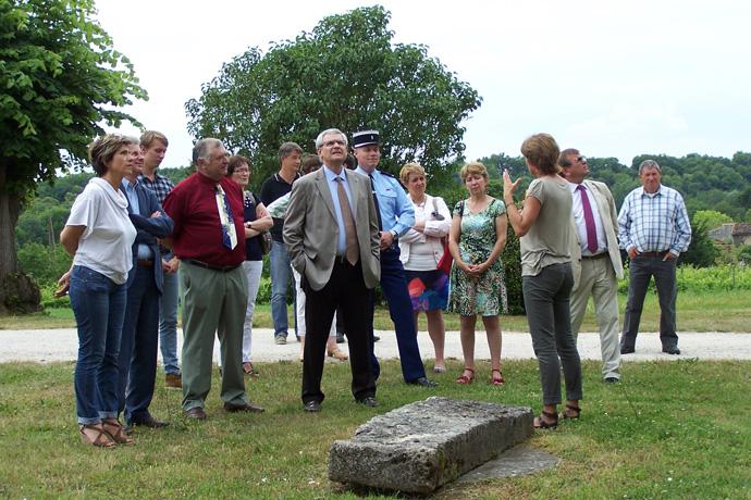 Visite de Lichères avec Monsieur le Préfet de la Charente. Photo : M. Lavaud