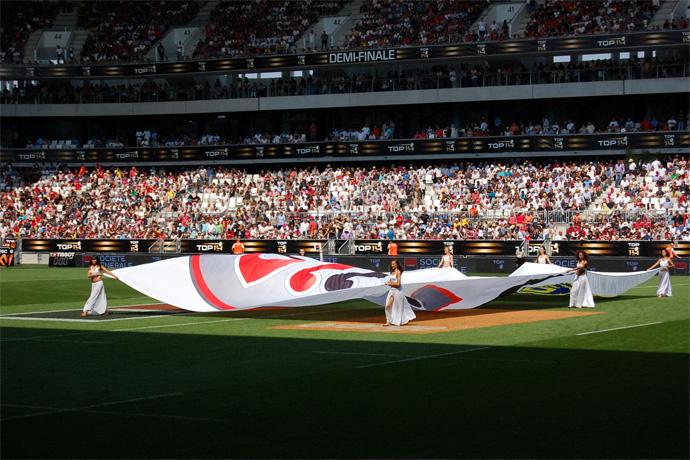 Demi-finale TOP 14 pour l'ouverture du nouveau stade de Bordeaux. Photo : N. Bonnefoy