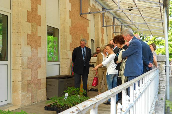 Inauguration des bâtiments communaux à  Aussac-Vadalle. Photo : J.F. Cessac