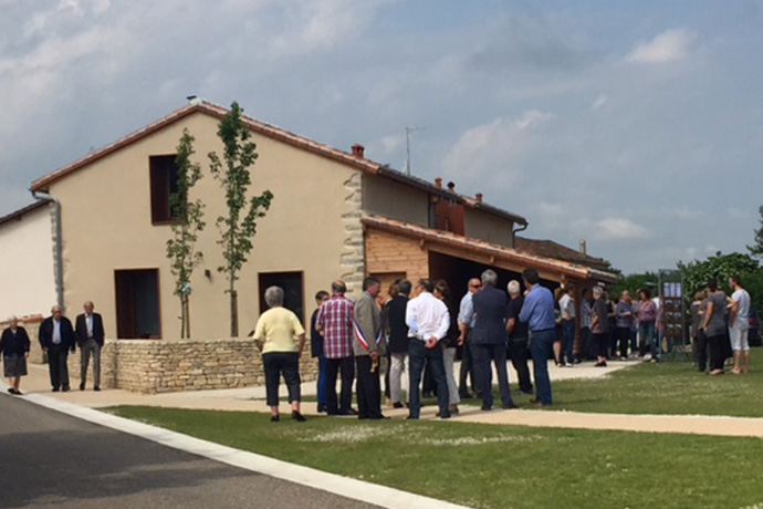 Inauguration des nouveaux logements communaux ainsi que de l'aménagement du bourg de Saint Groux. Photo : N. Bonnefoy