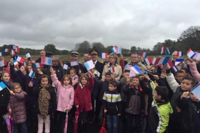 Commémoration du centenaire de la guerre 14-18 à Nieuil. Photo : N. Bonnefoy