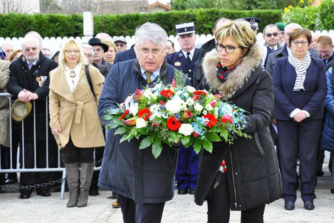 Cérémonie du 19 mars au Mémorial de Gond Pontouvre.