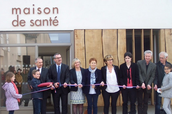 Inauguration de la Maison de santé à Saint-Angeau. Photo : P. Lavaud