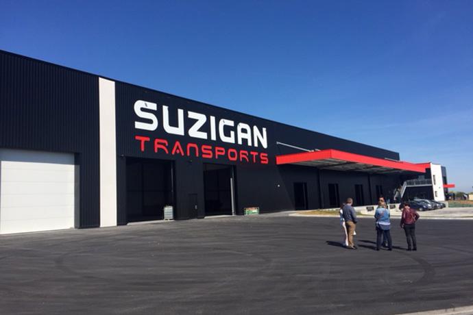 Nouveaux locaux de Suzigan Transports à Maine de Boixe. Photo : N. Bonnefoy