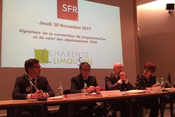 La Communauté de Communes de Charente Limousine signe avec SFR