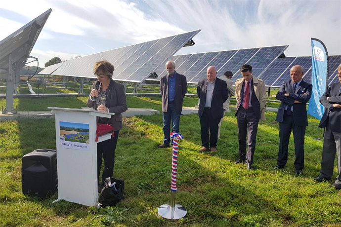 Inauguration du parc photovoltaïque de Ruffec. Photo : N.Bonnefoy