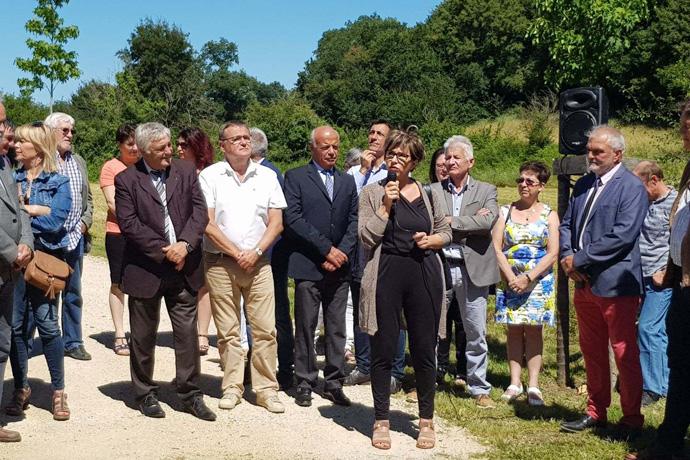 Inauguration de l'aménagement du bourg de Vieux Ruffec. Photo : N. Bonnefoy