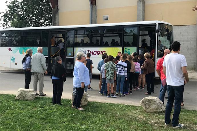 Lancement de la 32ème campagne Transport Attitude aucollège de Mansle. Photo : N. Bonnefoy