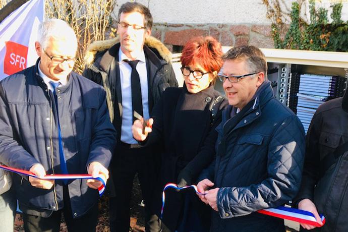 Inauguration du déploiement de la fibre optique par SFR en Charente Limousine. Photo : N. Bonnefoy