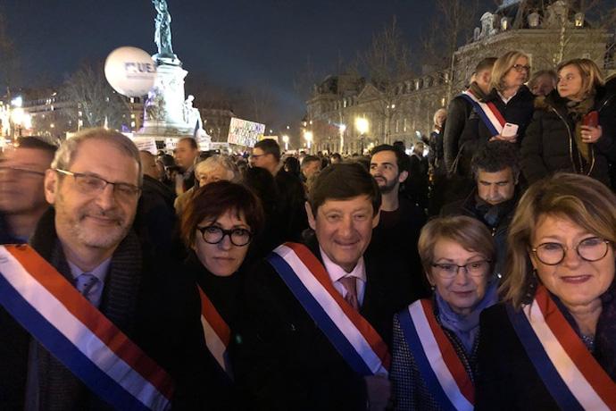 Rassemblement à Paris pour dire NON à l'anti sémitisme. Photo : N. Bonnefoy