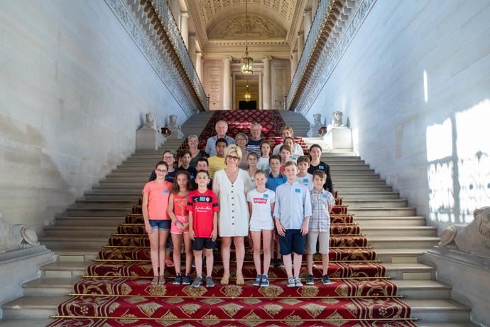 Visite du Sénat avec le Conseil Municipal des Jeunes de Gond-Pontouvre. Photo : Sénat