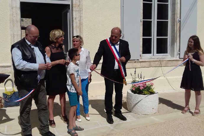 Inauguration de la nouvelle mairie de Fouqueure. Photo : N. Bonnefoy