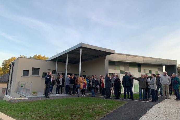 Inauguration de la nouvelle cantine scolaire, garderie et salle multi activités à Montignac sur Charente. Photos : N. Bonnefoy
