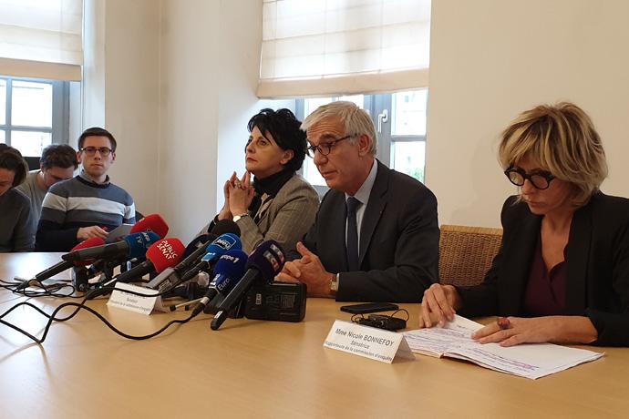 Lubrizol : Conférence de presse. Photo : Sénat