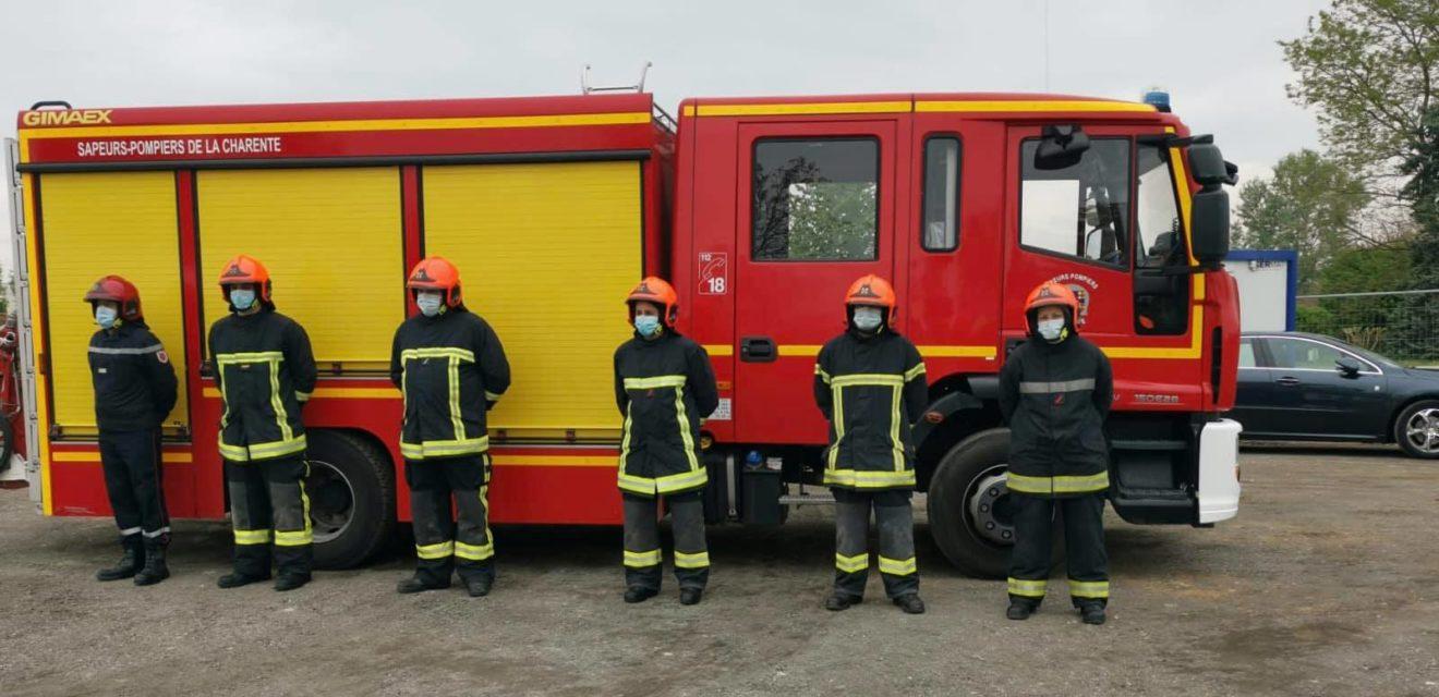 30.04.2021 Pose de la première pierre du Centre d'incendie et de secours de Mansle